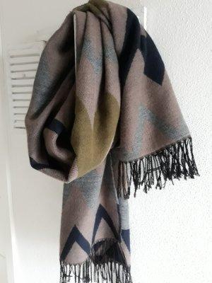 Schal Pieces grpn grau blau