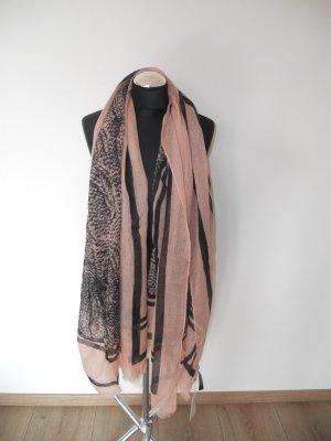 Schal pieces neu schwarz rosa mit etikett