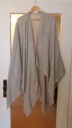 Schal Poncho Überwurf grau