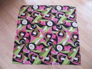 Quadratisches Tuch von APART pink-gruen-schwarz-weiß