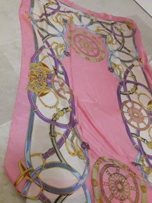 Écharpe en soie blanc cassé-jaune clair