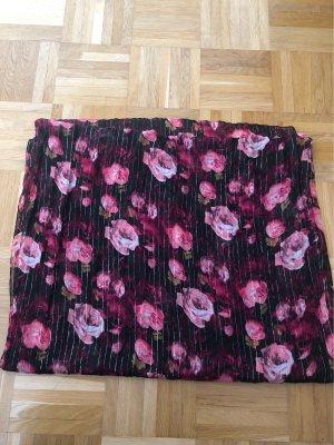 Schal, Rosen, schwarz, rosa