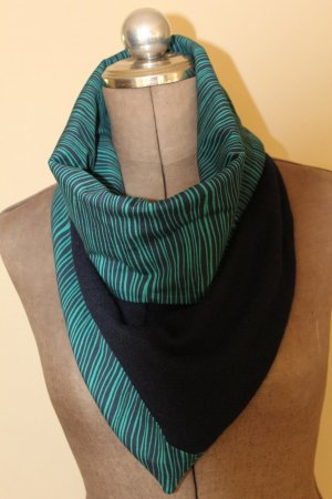Snood dark blue-petrol