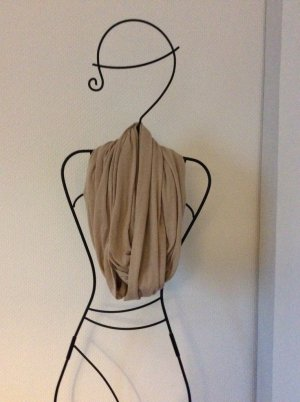 Schal Schlauchschal seidenweich beige selten getragen