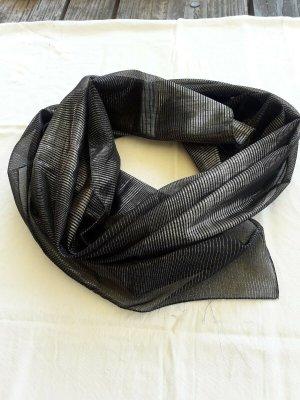 Sciarpa estiva nero-argento