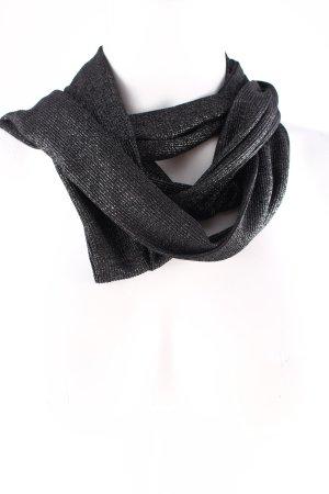 Schal schwarz-silberfarben klassischer Stil