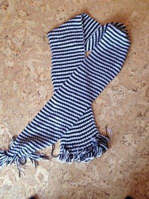 Schal schwarz weiß gestreift