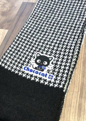 Schal schwarz weiß mit süßer Katze