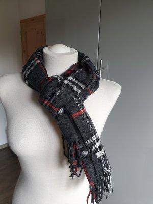 Schal schwarz/weiß/rot