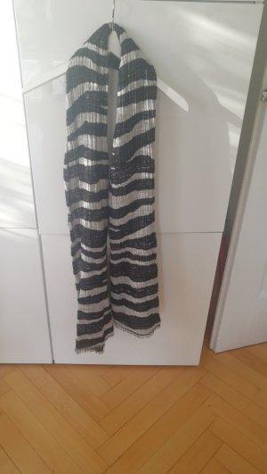 Schal, schwarz-weiß, trendy