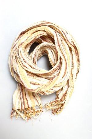 Schal Sommer Streifen metallic braun beige weiß gold bronze festival boho hippie