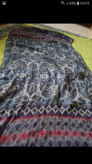 Multiblu Knitted Scarf carmine-dark blue
