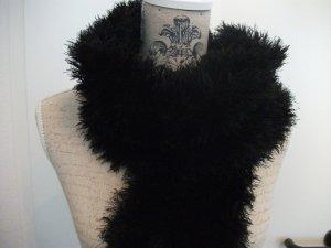 Sciarpa lavorata a maglia nero Cotone