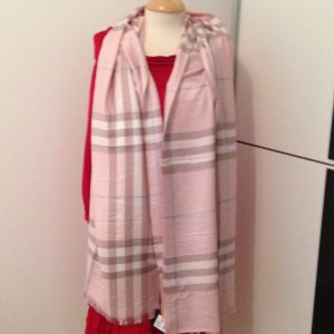 Schal/Stola Check-Muster*Original*180x65 in Rosa