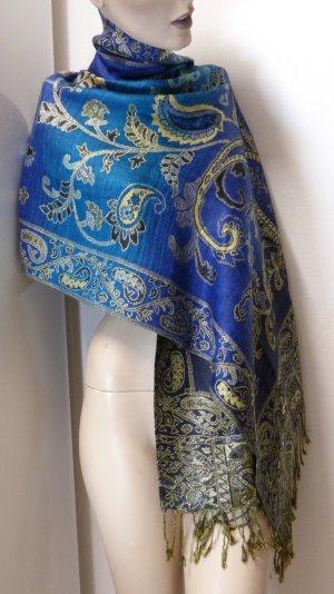 Écharpe en laine multicolore tissu mixte