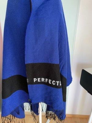 H&M Sjaal met franjes zwart-blauw