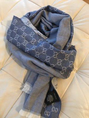 Schal, Tuch, blau,grau, Gucci, neu