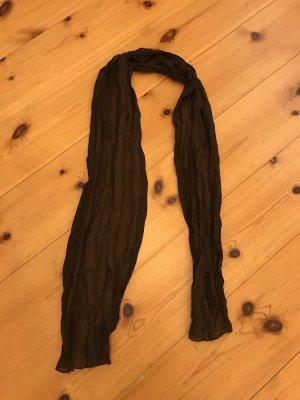 Fazzoletto da collo marrone-nero