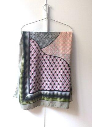 Schal / Tuch bunt gemustert in Frühlingsfarben