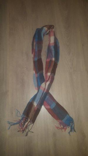 Écharpe rouge-bleu acier