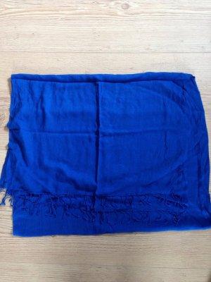 Schal Tuch FRAAS blau Fransen