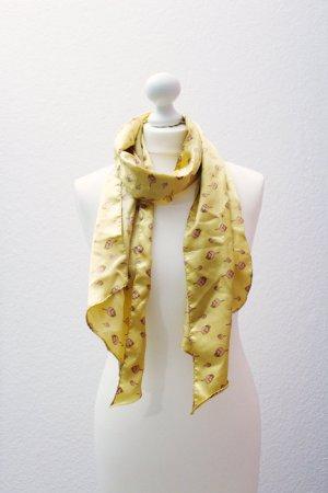 Schal / Tuch, gelb/gold mit Muster