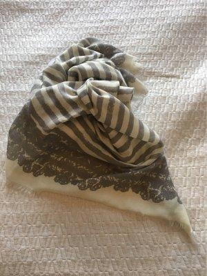 Schal/Tuch grau-weiß