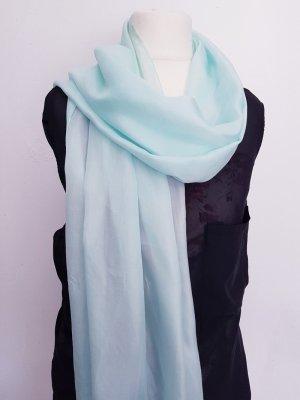 Schal Tuch hellblau-türkis-mint 100% Seide