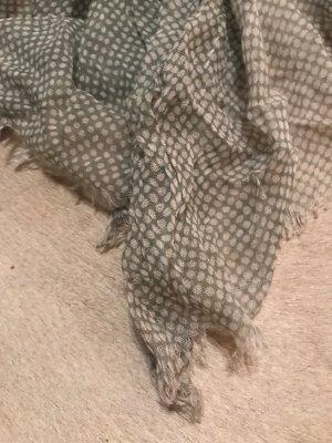 Schal Tuch in grau weiß