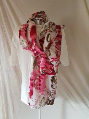Schal / Tuch in weiß Pink