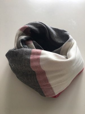 Schal Tuch kariert grau weinrot