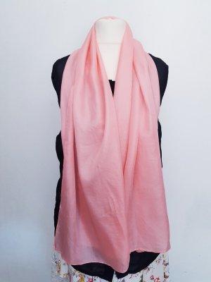 Schal Tuch lachs-rosa 100% Seide