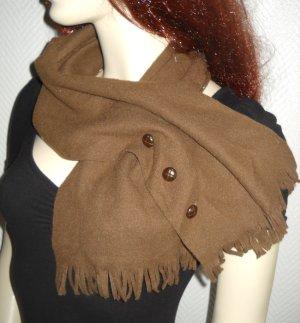 Schal Tuch Military Knöpfe camel Vintage Kragen braun h m Fransen Schlauchschal