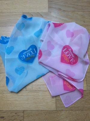 Schal Tuch mit Herzen neu
