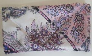 Schal - Tuch rosa blau weiss