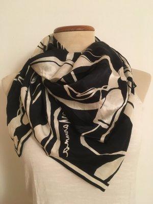 H&M Zijden sjaal wit-zwart Zijde
