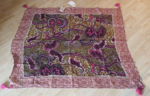 Nile Fazzoletto da collo viola-rosa Cotone