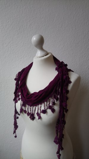 Opus Fringed Scarf multicolored viscose