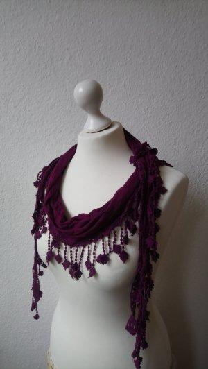 Opus Sjaal met franjes veelkleurig Viscose