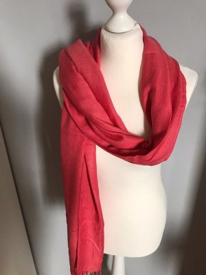 Fringed Scarf red-bright red viscose