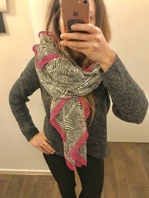 Schal Tuch XL-Tuch Zebra Muster mit pink groß Halstuch