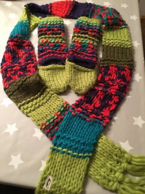 Schal und Handschuhe von Burton