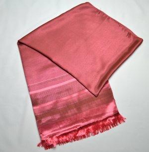 Bufanda de flecos magenta-rojo frambuesa Viscosa