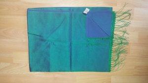 Zijden sjaal donkerblauw-bos Groen