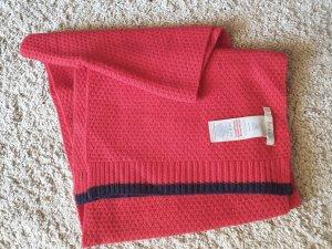 Schal von boden, Wolle, rot