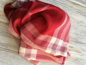 Burberry Bufanda de seda rojo ladrillo Lana