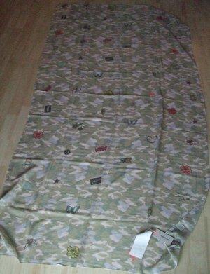 Codello Écharpe d'été kaki-blanc cassé polyester