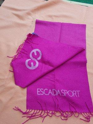 Escada Sport Bufanda rosa-rosa neón tejido mezclado