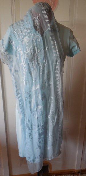 Laura biagiotti Silk Scarf light blue-azure silk