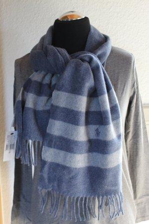 Polo Ralph Lauren Woolen Scarf azure-steel blue wool